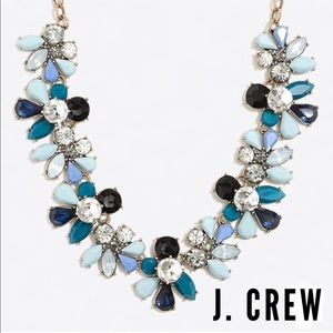 J. Crew Crystal Waves Jeweled Statement Necklace